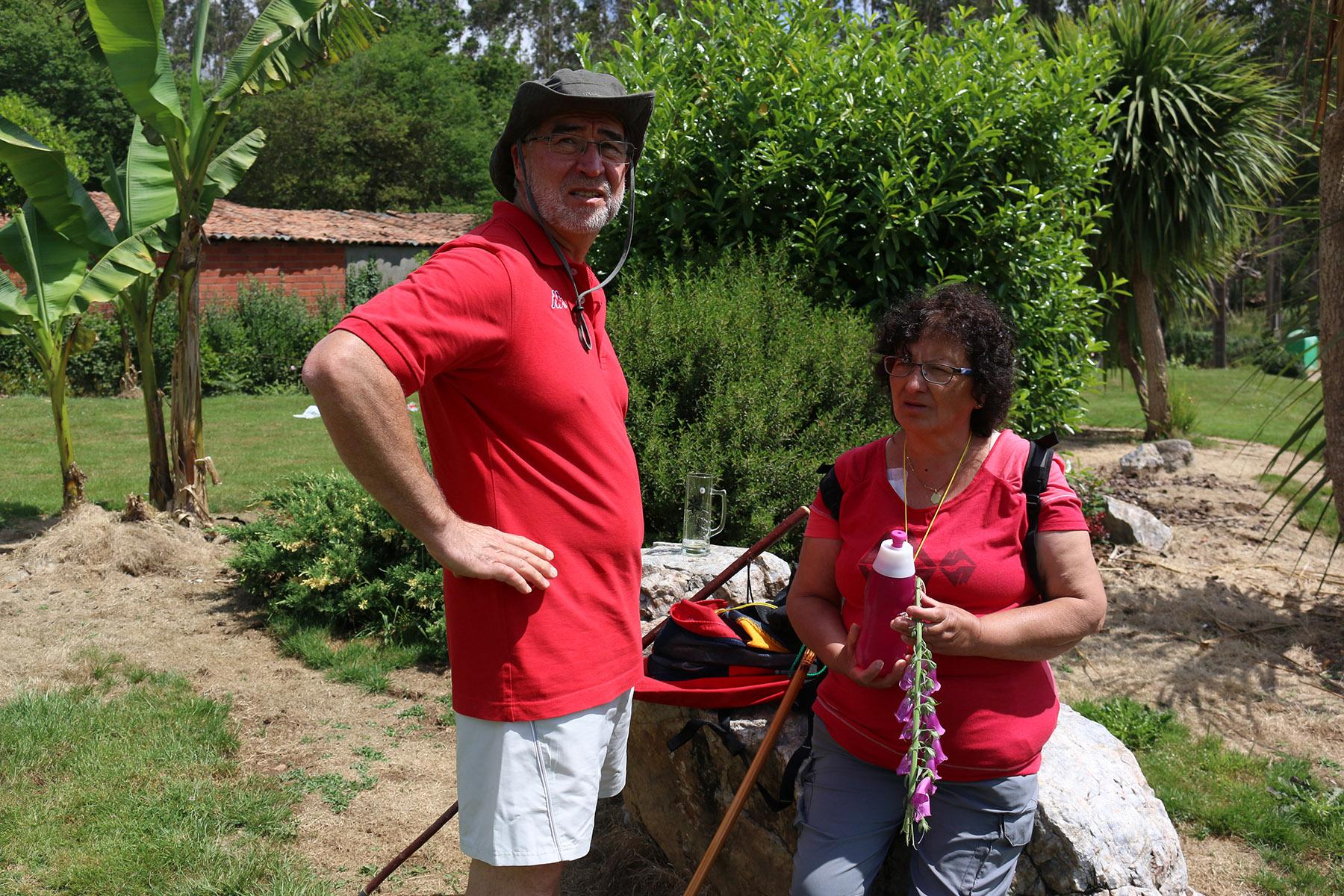 Juanjo y Lourdes de camino a Arca